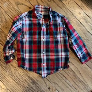 Only worn once! Plaid Janie and Jack Button Up